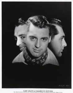 Portrait of Cary Grant for Only Angels Have Wings directed by Howard Hawks, 1939. Photo by Otto Dyar, 1933
