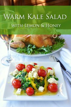 Warm Kale Salad with Honey  Lemon - a super healthy, delicious side dish or light lunch that's practically foolproof to prepare. Makes an outstanding appetizer course too.