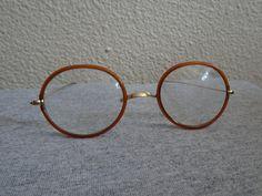 f95bd4bbca02 Vintage True Windsor Amber Wrapped Eyeglasses