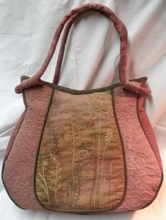 Hand embroidered shoulder bag by diohej on Etsy