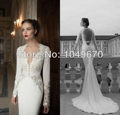 Designer 2014 Long Sleeves Wedding Dresses Mermaid With Sash Taffeta Court Train Sexy Backless Bridal Gowns Lace N517