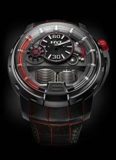 The Startlingly Alluring HYT H1 Dracula DLC Timepiece $64,000