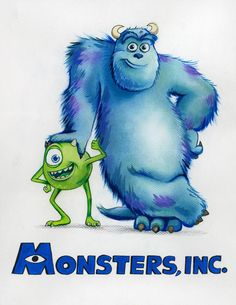 Disney Pixar's prequel to 'Monsters, Inc.', 'Monsters University,' is released in theaters June 21 worldwide. Here are 9 alternative movie posters of the film. Sully Monsters Inc, Monsters Ink, Disney Monsters, Disney Art, Disney Pixar, Disney Movies, Disney Magic, Disney Character Drawings, Disney Drawings