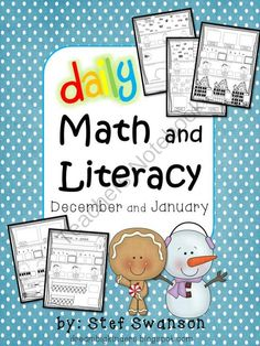 New Years Giveaway!! Enter for your chance to win 1 of 2.  Daily Math and Literacy Winter December and January Common Core (40 pages) from Dream Big Kinders on TeachersNotebook.com (Ends on on 1-1-2014)  40 pages (8 weeks) of quick independent Daily Math and Literacy mini review worksheets! Perfect for morning work, nightly homework, or a quick informal assessment. Each page contains math and literacy skills.