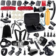 Accessories For GoPro HERO 4 Black Silver GoPro HERO 3+ Black Bundle NEW #BAXIATECHNOLOGY