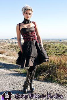 tattered faerie dress, beaded harness, ophelia neck corset