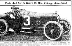 """An article about car racer Dario Resta, published in the Jackson Citizen Patriot (Jackson, Michigan), 28 June 1915, page 10. Read more on the GenealogyBank blog: """"Newspaper Archives of Grandma & Grandpa's Tips from 100 Years Ago"""" https://blog.genealogybank.com/newspaper-archives-of-grandma-grandpas-tips-from-100-years-ago.html"""