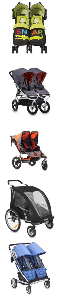 Modern looking double strollers...rolling in style with the sib...