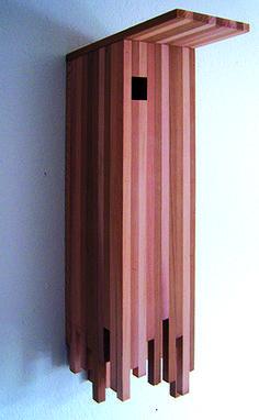 Modern linear birdhouse