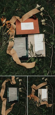 We are loving the earthy vibes combined with these copper wedding invitations | Image by Michelle Larmand Photography