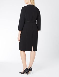 Triacetate dress with belt