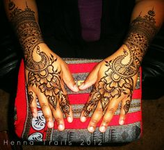 Moroccan fusion style wedding henna by Henna Trails, via Flickr