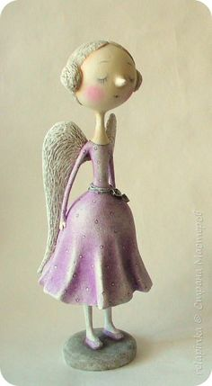 Куклы Новый год Папье-маше Ангел Бумага фото 2