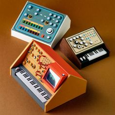 Teeny-tiny models of early synthesizers and analog recording equipment | Dangerous Minds