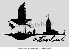 Istanbul City Retro Vector Art - 132201947 : Shutterstock