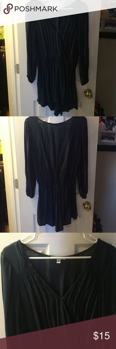 American Eagle Romper Navy blue romper, size S, perfect condition! Offers accepted! American Eagle Outfitters Other