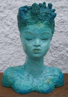 """Skulpturen - Skulptur """"Wassernixe, Meerjungfrau, - ein Designerstück von…"""