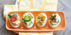 Upgrade your deviled egg tray with tasty stir ins!