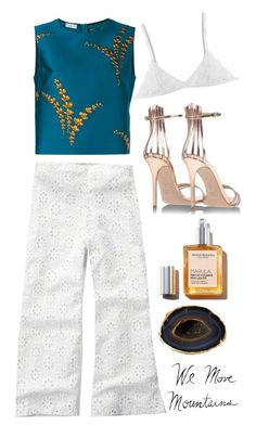 """""""mountains"""" by lseed87 ❤ liked on Polyvore featuring Abercrombie & Fitch, Dries Van Noten, Gianvito Rossi, Lipstick Queen, Mapleton Drive and Möve"""