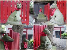 Fox Gods near Tsurugaoka Hachimangu Shrine in Kamakura