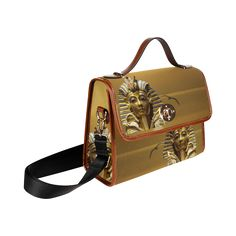 Egypt King Tut Waterproof Canvas Bag/All Over Print. FREE Shipping. #artsadd #bags #egypt