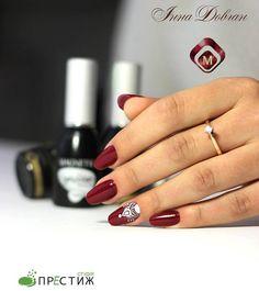 Classy nails by a student of Oleksandra Vlasiuk! Gelpolish: Bordeaux (103008)