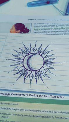 Drawing Tips sun drawing Gem Tattoo, Moon Sun Tattoo, Sun Tattoos, Body Art Tattoos, Small Tattoos, Tatoos, Tattoo Sketches, Tattoo Drawings, Cool Drawings