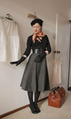 grey wool skirt c by night.owl, via Flickr