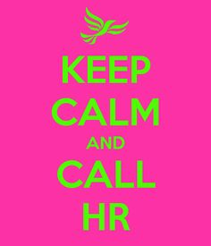 KEEP CALM AND CALL HR - Generator