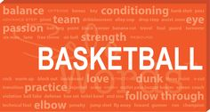 Solowords.com - Basketball Words Canvas. All basketball related words. From technical skills to motivational words. These are great to decorate bedrooms of basketball players or fans. It will also look great in a basement or office. Solowords.com has more sports to choose from and you can choose color and add a name.