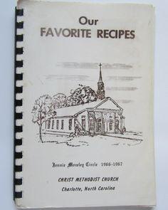 Vintage 1960s Charlotte NC Cookbook Christ Methodist Church