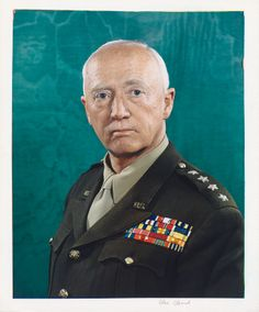 General George Patton by Robert F. Cranston, 1945 (Portrait - brief biographical information included)