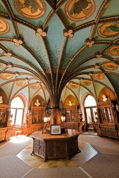 This would make a great TARDIS control room. Only a few minor adjustments. -Marienburg Castle, Hannover, Germany century Neo-Gothic it is amazing Art Et Architecture, Beautiful Architecture, Beautiful Buildings, Beautiful Places, Architecture Wallpaper, Chinese Architecture, Futuristic Architecture, City Of London, Beautiful Library