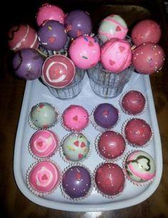 Valentine themed Cake Pops