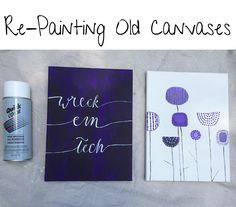 Re-Painting Old Canvases | Bre's Bliss | how you can update your space | texas tech canvas | flower canvas painting | quotes | dorm room decor | apartment decor | DIY canvas painting | canvas ideas