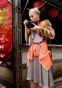 Ethereal Ethnic Fashions - The Jose Ferreira Chinatown Shoot Fuses Couture and Culture (GALLERY)