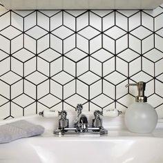 SomerTile 10.5x12.125-inch Victorian Rhombus Matte White Porcelain Mosaic Floor and Wall Tile (10/Case, 9.04 sqft.) - 20493683 - Overstock - Big Discounts on Somertile Floor Tiles - Mobile