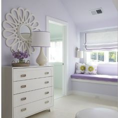 As my little girl got older, this would be a nice spin on her nursery and the lavender, cream and gray theme.