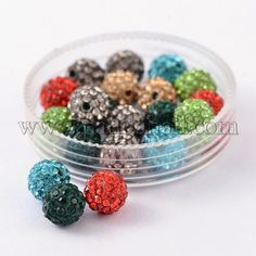 Jewelry & Accessories Beads Pack Rich In Poetic And Pictorial Splendor 12mm Light Blue Top Quality Czech Crystal Rhinestones Pave Clay Round Disco Ball Spacer Beads For Jewelry 100pcs