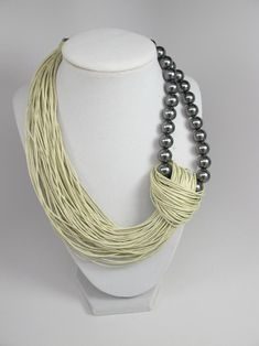 Linen cord Necklace natural Linen necklace Organic eco jewelry cord necklace unique gift thread natural color Bib Necklaces pearls - Sale Was 44 Linen Necklace natural Linen necklace Organic Bib Necklaces, Unique Necklaces, Beautiful Necklaces, Unique Jewelry, Fine Jewelry, Vintage Jewelry, Simple Necklace, Indian Jewelry, Egyptian Jewelry