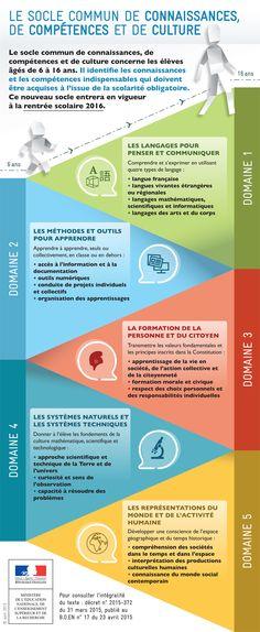 Le socle commun de connaissances et de compétences - Ministère de l'Éducation nationale, de l'Enseignement supérieur et de la Recherche