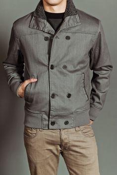 AMBIGUOUS CLOTHING FLEETWOOD JACKET CHARCOAL WAX