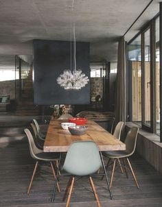The Best Wood Dining Table Design That Today Trend 13 Dining Table Design, Modern Dining Table, Dining Room Table, Dining Rooms, Table Lamps, Wood Table, Dining Area, Dining Chairs, Chalet Modern