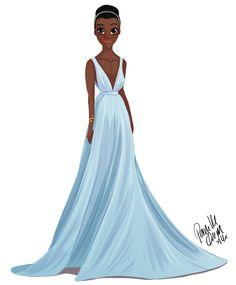 El primer vestido que hice ... Se olvidó de publicar aquí ... Lupita Nyong'o era mi favorito