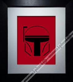 Boba Fett  Star Wars  starwars  red and black  sci by Minus1Plus4, $15.00