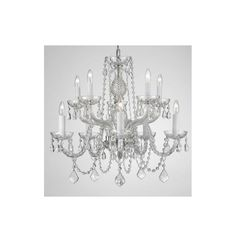 View the Gallery T40-134 10 Light 2 Tier Crystal Candle Style Chandelier with Clear Crystals at LightingDirect.com.