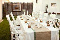Decoração das mesas - Simples