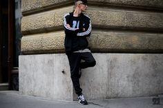 Czech male model wearing Adidas