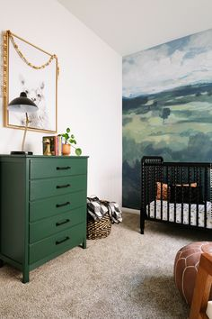Minted Wall Mural in Naturally Neutral Nursery – Toptrendpin