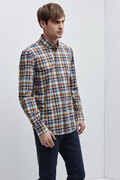Cotton Plaid Shirt - shirts | Adolfo Dominguez shop online